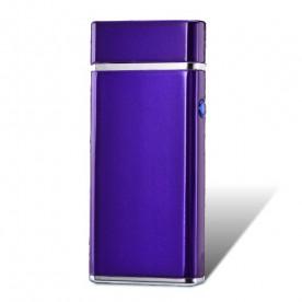 Briquet Double Arc Electrique Long Violet