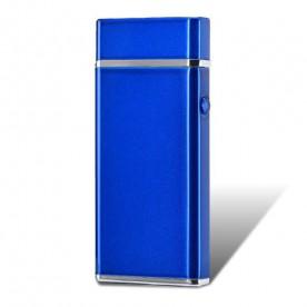 Briquet Double Arc Electrique Long Bleu