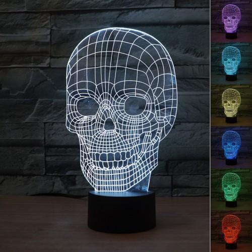 Lampe 3D Tête de Mort