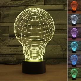 Lampe 3D Ampoule