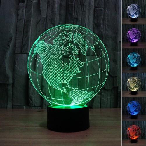Lampe 3D LED Globe