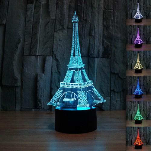 Lampe 3D LED Tour Eiffel