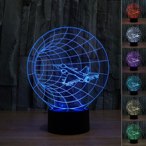 Lampe 3D LED Voyage Temporel