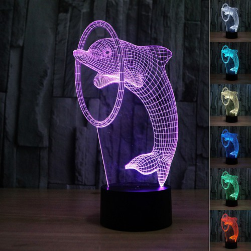 Lampe 3D LED Dauphin
