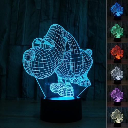 Lampe 3D LED Petit Chien