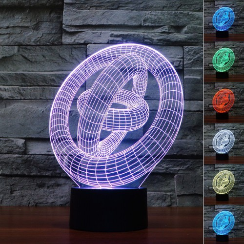 Lampe 3D LED Abstrait 1