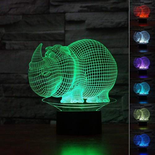 Lampe 3D LED Rhino