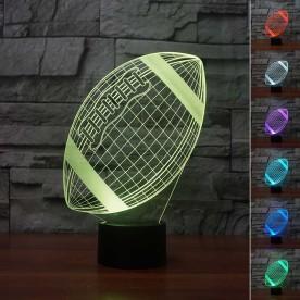 Lampe 3D LED Ballon de Rugby