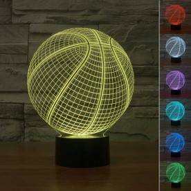 Lampe 3D LED Ballon de Basket