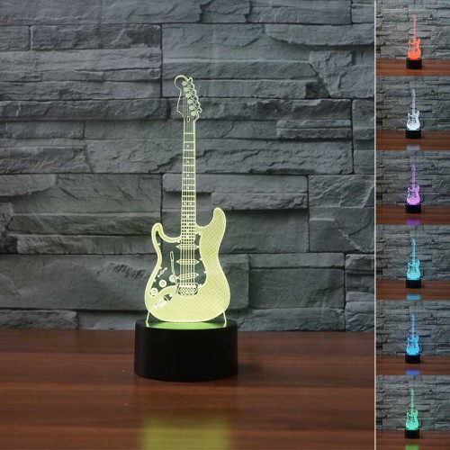 Lampe 3D LED Guitare Electrique