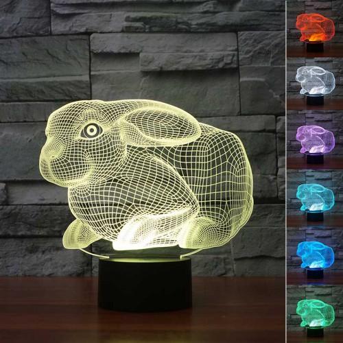Lampe 3D LED Lapin