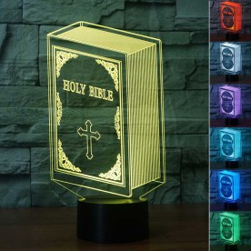 Lampe 3D LED Sainte Bible