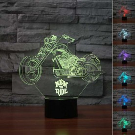 Lampe 3D LED Moto Johnny