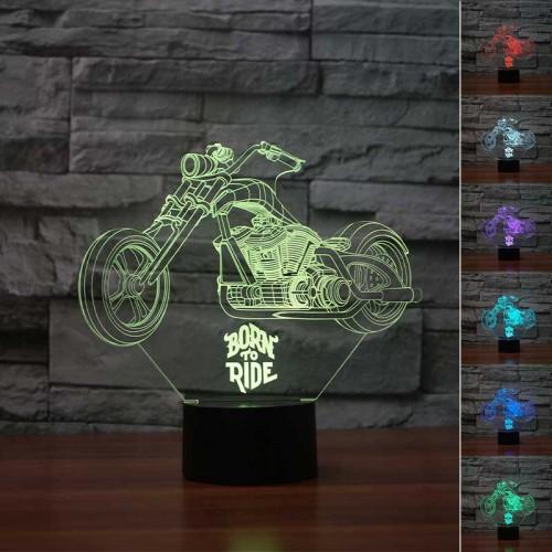 Lampe 3D LED Moto Johnny