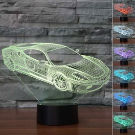 Lampe 3D LED Voiture de Course