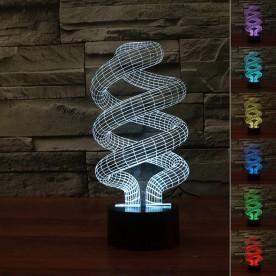 Lampe 3D LED Spirale