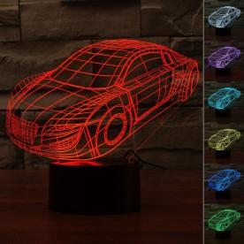 Lampe 3D LED Voiture Sport