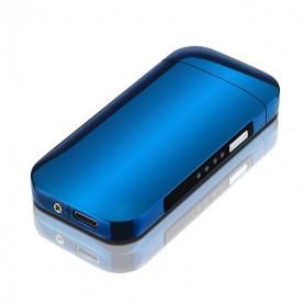Briquet Arc Electrique Indicateur de Charge Bleu