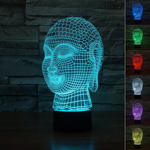 Lampe 3D LED Bouddha