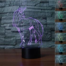 Lampe 3D LED Tête de Cheval