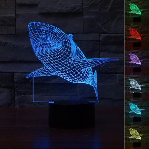 Lampe 3D LED Requin