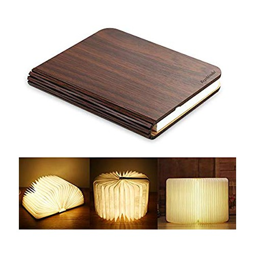 Walnut Book Lamp