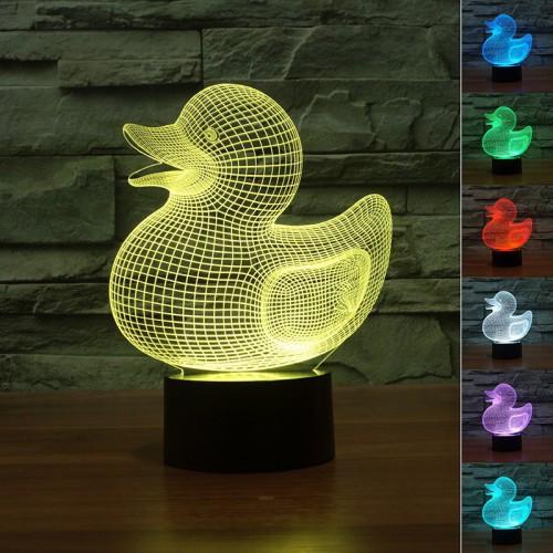 Lampe 3D LED Petit Canard