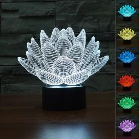 Lampe 3D LED Lotus
