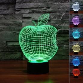 Lampe 3D LED Pomme