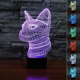 Lampe 3D LED Chat