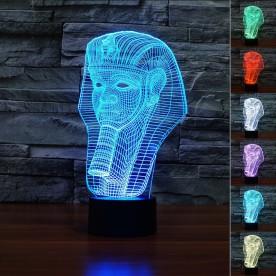 Lampe 3D LED Pharaon
