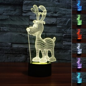 Lampe 3D LED Renne