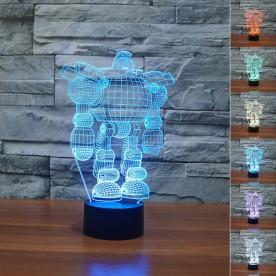 Lampe 3D LED Robot