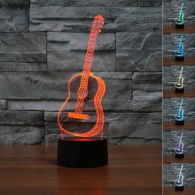 Lampe 3D LED Guitare
