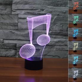 Lampe 3D LED Note de Musique