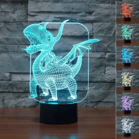 Lampe 3D LED Dragon