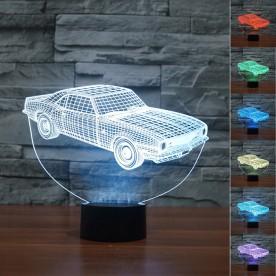 Lampe 3D LED Voiture Vintage