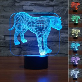 Lampe 3D LED Leopard
