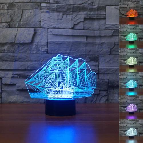 Lampe 3D LED Bateau