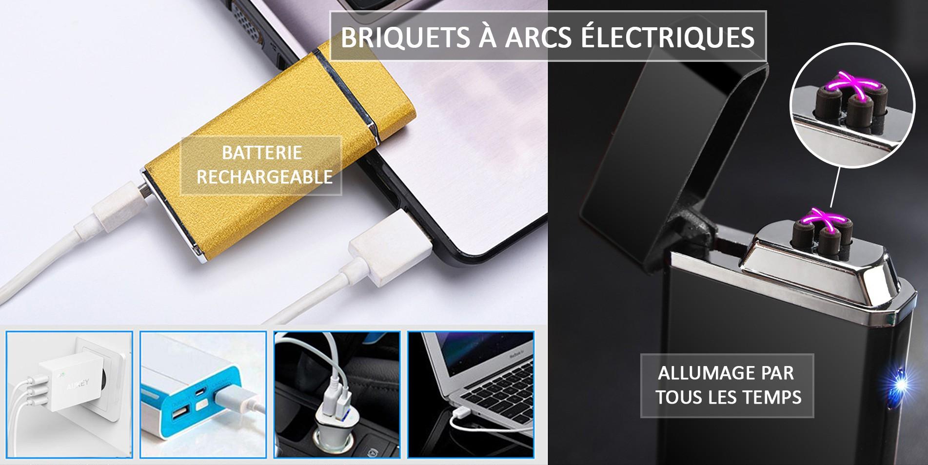 Briquets à arcs électriques