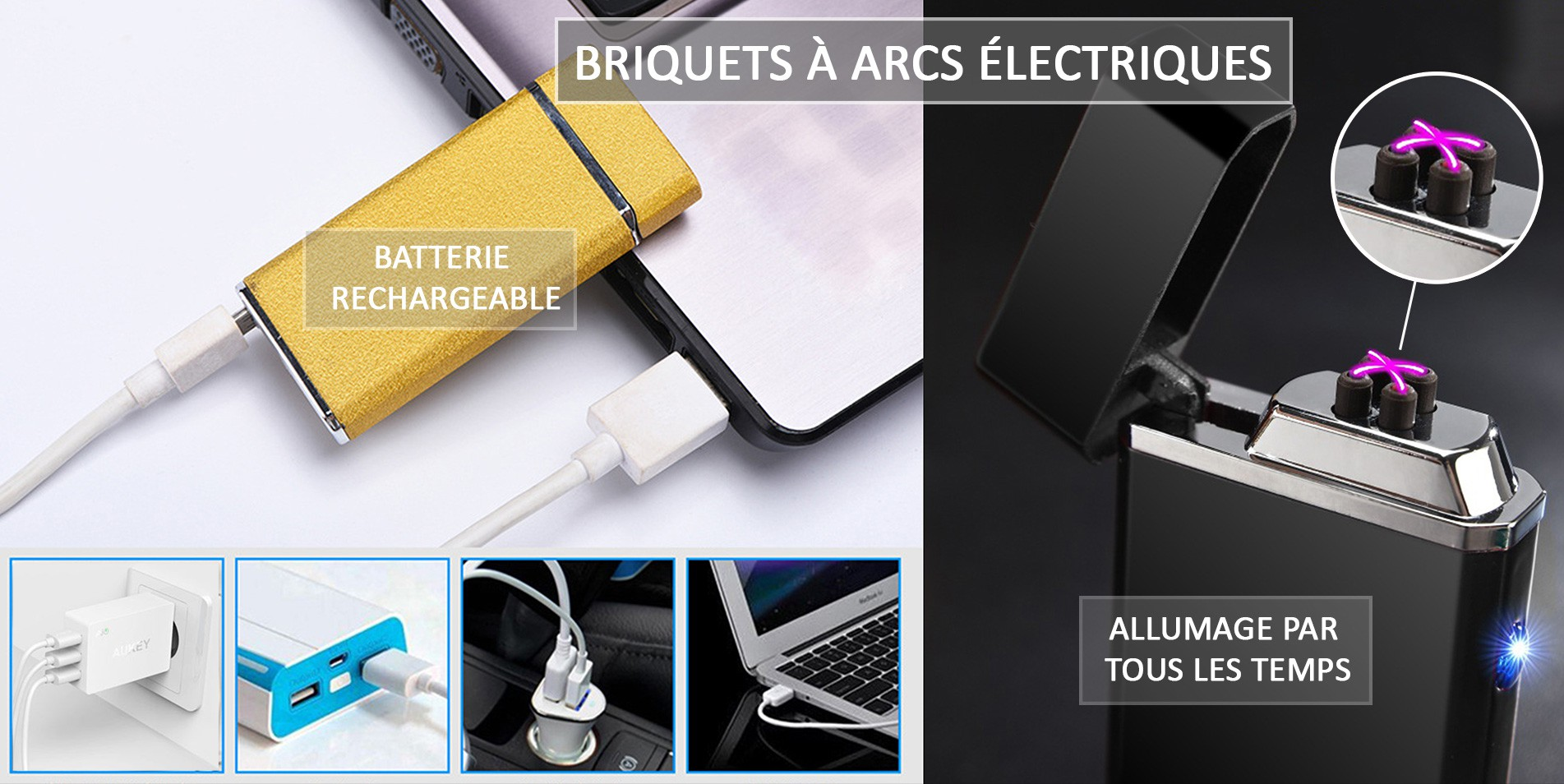 Arc electric lighters
