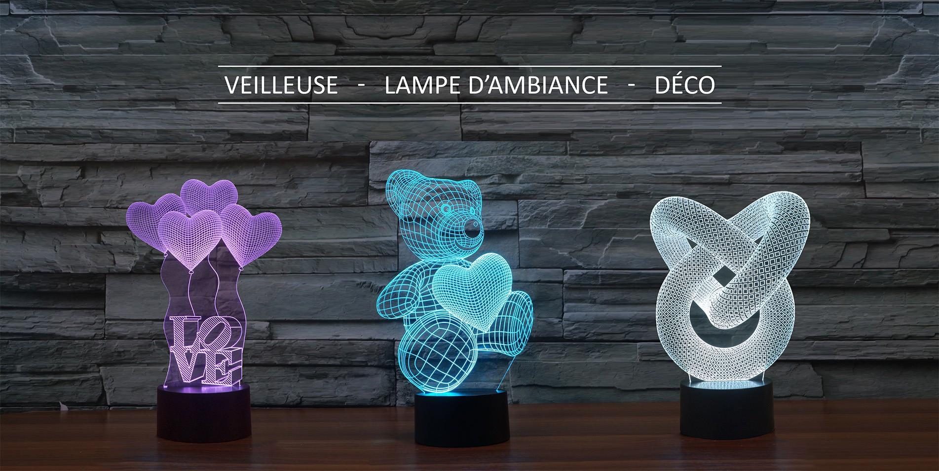 Lampes 3D LED